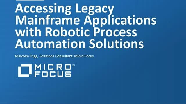 How to Access Legacy Mainframe Applications using Robotic Process Automation
