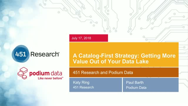 A Catalog-First Strategy: Getting More Value Out of Your Data Lake