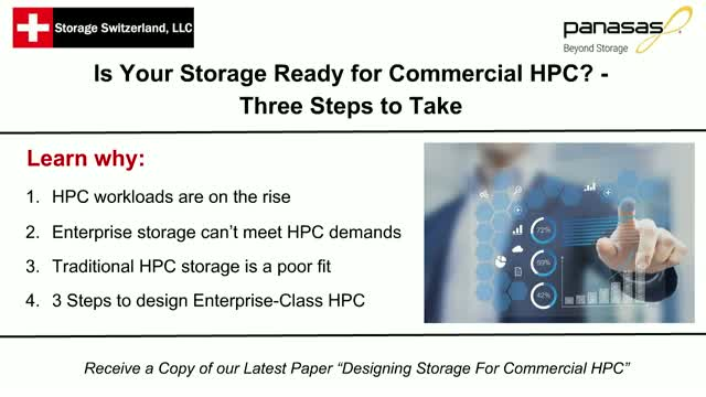 Is Your Storage Ready for Commercial HPC? - Three Steps to Take