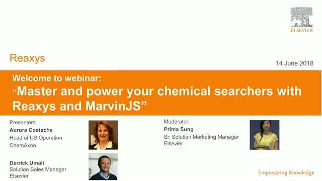 Master and power your chemical searchers with Reaxys and MarvinJS