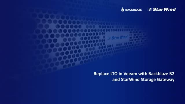 3 Easy Steps to replace LTO with Backblaze B2 in Veeam