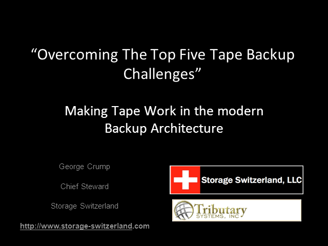 Overcoming The Top Five Tape Backup Challenges