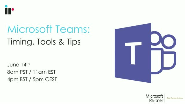 Microsoft Teams: Timing, Tools & Tips