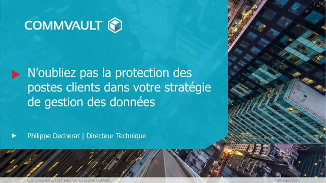 Commvault Endpoint Data Protection