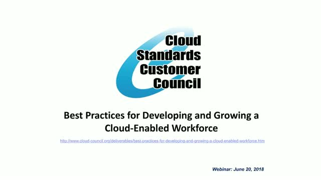 Best Practices for Developing and Growing a Cloud-Enabled Workforce