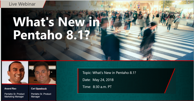 What's New in Pentaho 8.1?