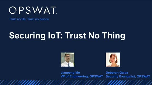 Securing IoT: Trust No Thing