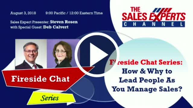 Fireside Chat Series: How & Why to Lead People As You Manage Sales?