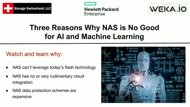 Three Reasons Why NAS is No Good for AI and Machine Learning