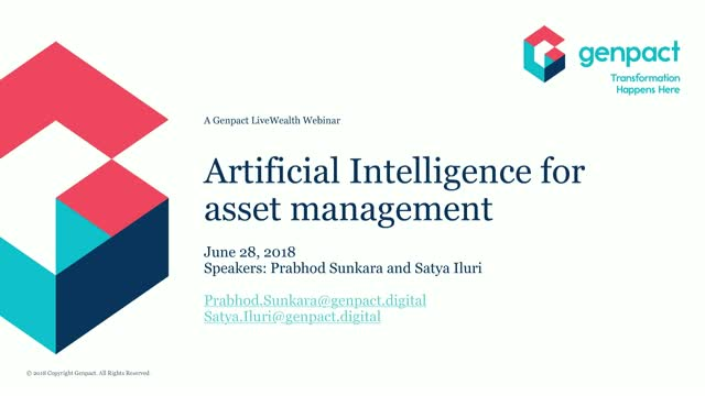 Pragmatic AI for asset management