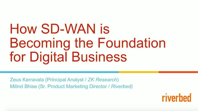 Digital Business + SD-WAN = Your Digital Transformation Success