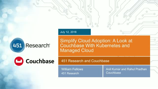 Simplify Cloud Adoption: A Look at Couchbase With Kubernetes and Managed Cloud