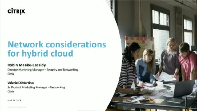 Network considerations for hybrid cloud