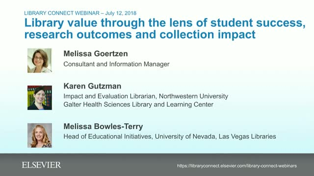 Library value: student success, research outcomes & collection impact
