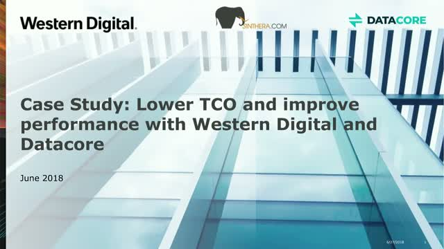 Case Study: Lower TCO and improve performance with Western Digital and Datacore