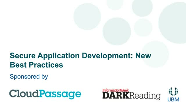 New Best Practices in Secure Application Development