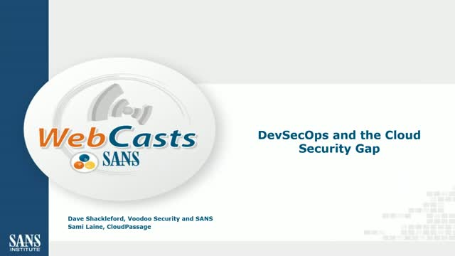 DevSecOps and the Cloud Security Gap
