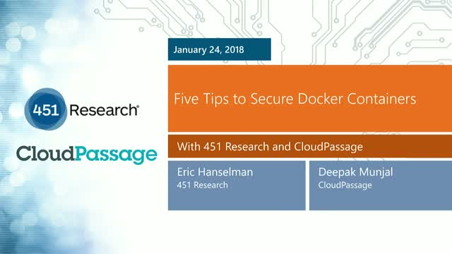 5 Tips to Secure Docker Containers