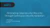 Eliminating Cybersecurity Obscurity Through Continuous Security Validation