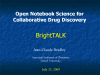 Open Notebook Science for Collaborative Drug Discovery