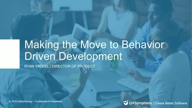 A framework for making the move to Behavior Driven Development