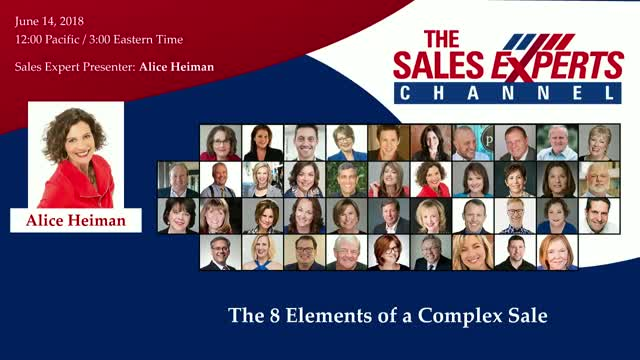 The 8 Elements of a Complex Sale