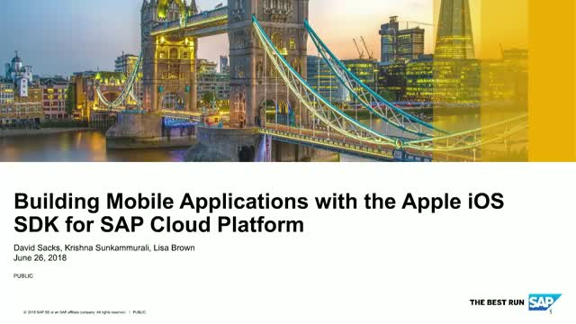 Accelerate Mobilizing your Customers with the SAP Cloud Platform SDK for iOS