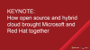 Keynote: How Open Source and Hybrid Cloud brought Microsoft and Red Hat together