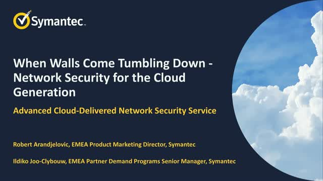 When Walls Come Tumbling Down – Network Security for the Cloud Generation