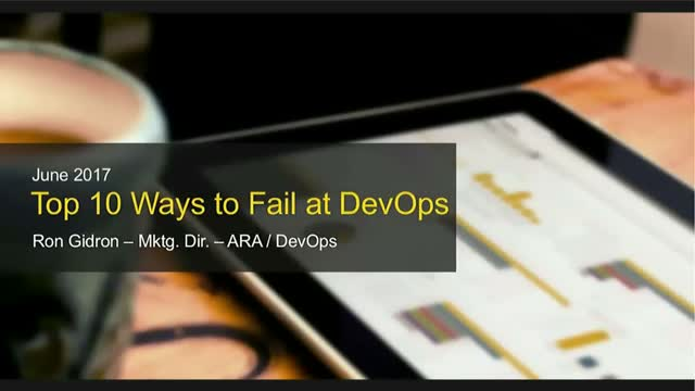 Top 10 Ways to Fail at DevOps