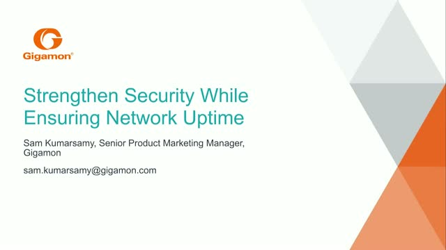 Strengthen Security While Ensuring Network Uptime