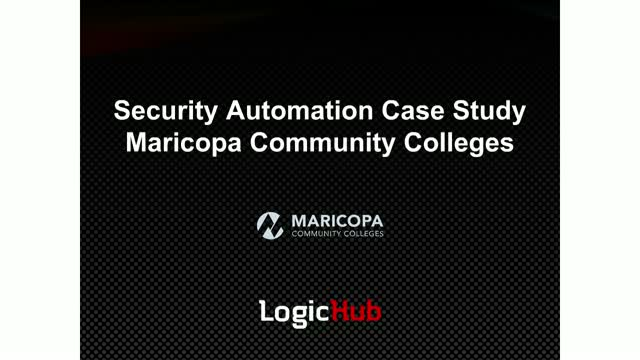 SOC Automation Case Study - Maricopa Community Colleges