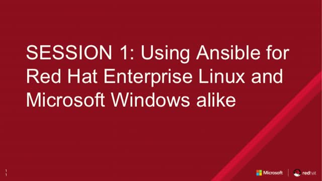 Session 1: Using Ansible for Red Hat Enterprise Linux and Microsoft Windows
