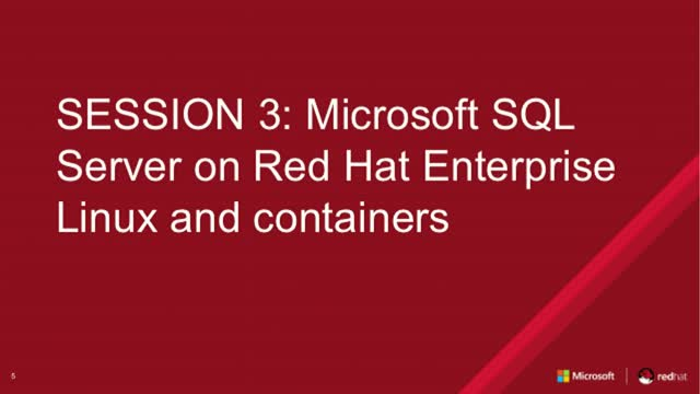 Microsoft SQL Server on Red Hat Enterprise Linux and containers