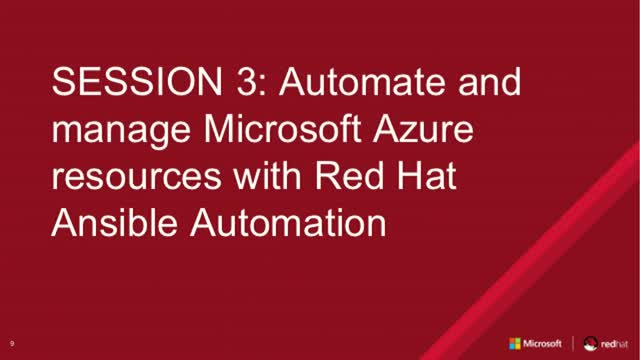 Session 3: Automate and manage Azure Resources with Red Hat Ansible  Automation