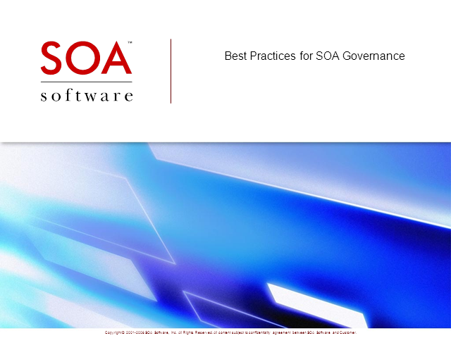 Best Practices for SOA Governance