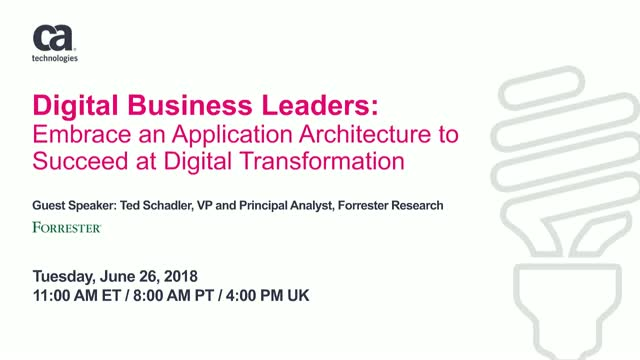 Embrace an Application Architecture to Succeed at Digital Transformation