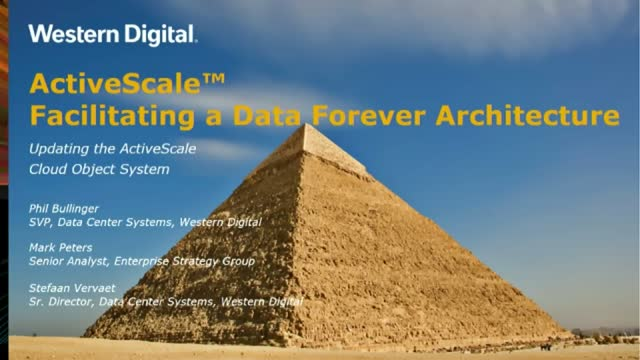Beyond Object Storage – Facilitating a Data-Forever Architecture (APAC)
