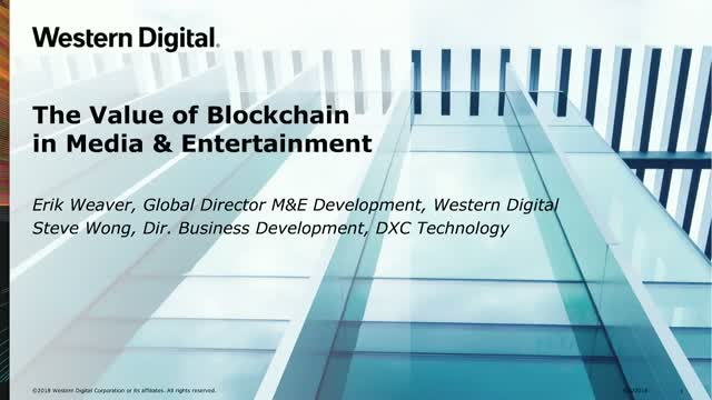 The Value of Blockchain in Media & Entertainment