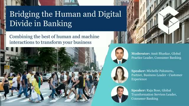 Bridging the human and digital divide in banking