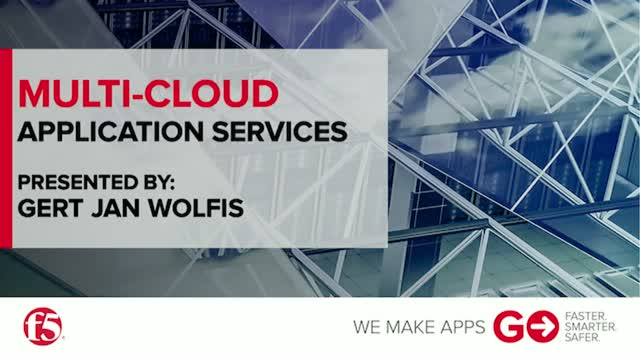 Multi-Cloud Application Services - F5 Networks