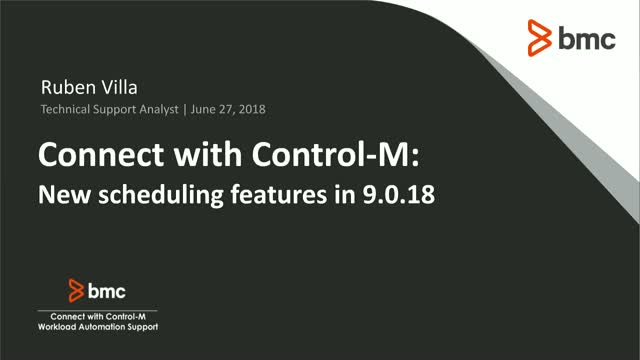 Connect with Control-M: New scheduling features in 9.0.18