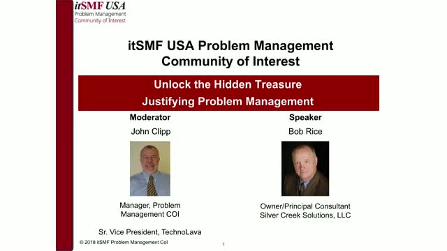 Unlock the Hidden Treasure – Justifying Problem Management