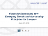 Financial Statements 101: Emerging Trends and Accounting Principles for Lawyers