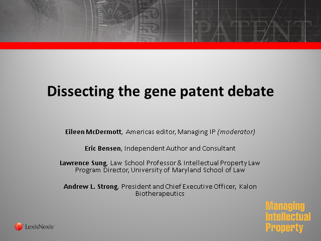 Dissecting the gene patent debate