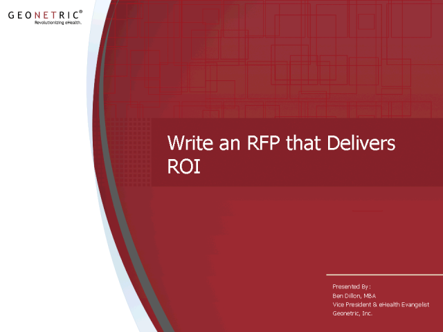 Write an RFP That Delivers ROI