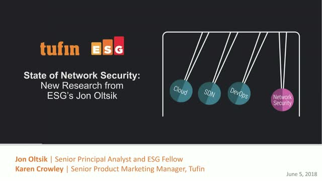 State of Network Security: New Research from ESG's Jon Oltsik