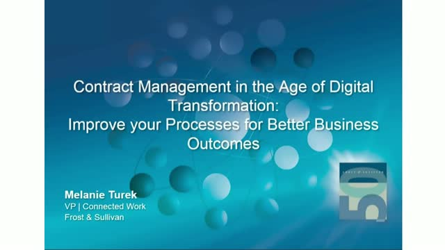 Contract Management in The Age of Digital Transformation