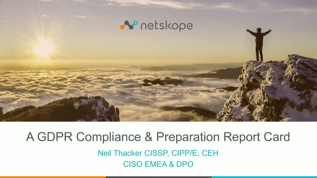 A GDPR Compliance & Preparation Report Card