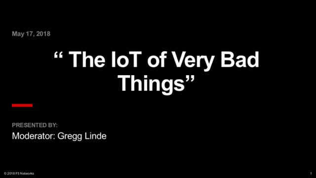 "The Internet of ""Very Bad"" Things"